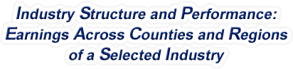 Wisconsin - Earnings Across Counties and Regions of a Selected Industry