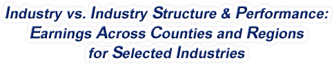 Wisconsin - Industry vs. Industry Structure & Performance: Earnings Across Counties and Regions for Selected Industries